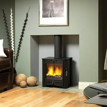 Nice plain stove in a nice plain hole in the wall