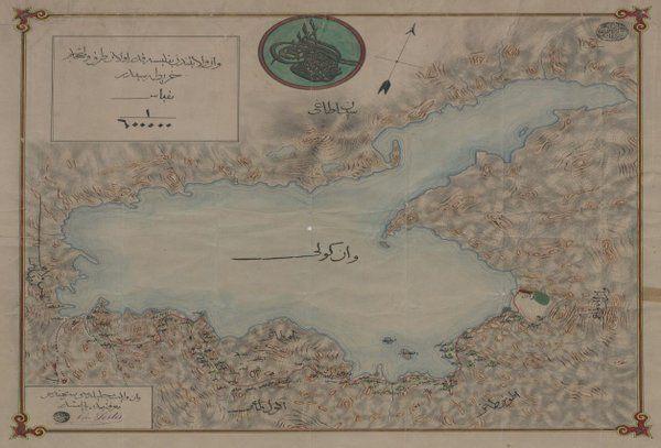 1896 Van Gölü Haritası