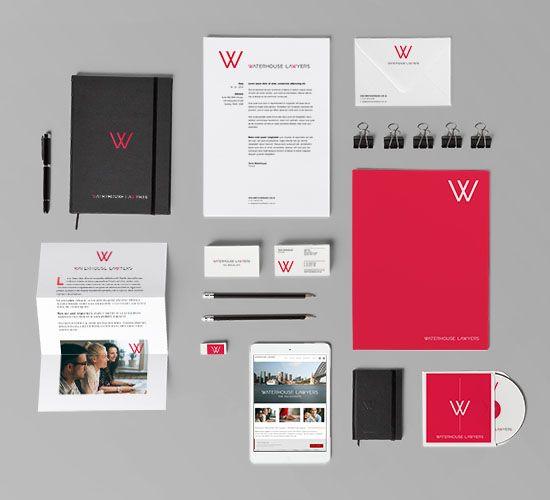 Waterhouse Lawyers Brand Identity and corporate stationery www.waterhouselawyers.com.au