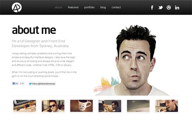 25 Best Examples Of About Me Pages | Web design ...