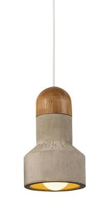 $300 Bentu Qie bamboo and concrete pendant light - medium - norsu interiors