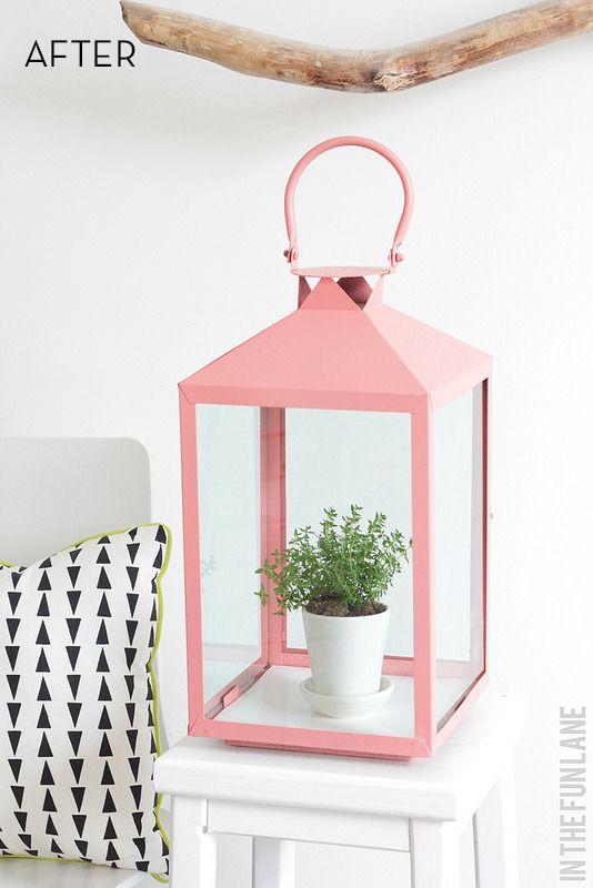 diy lantern greenhouse