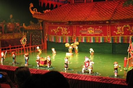 Water puppet show in the Vietnam tour