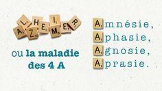 Alzheimer, la maladie des 4 A : amnésie, aphasie, agnosie, apraxie                                                                                                                                                                                 Plus