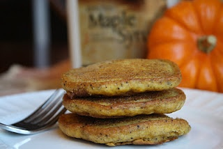 Vegan Pumpkin Pancakes...I will definitely have to try these as I love all things pumpkin.