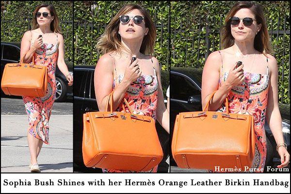 Sophia Bush -Orange-Hermes-Birkin-Handbag.jpg (600��400 ...