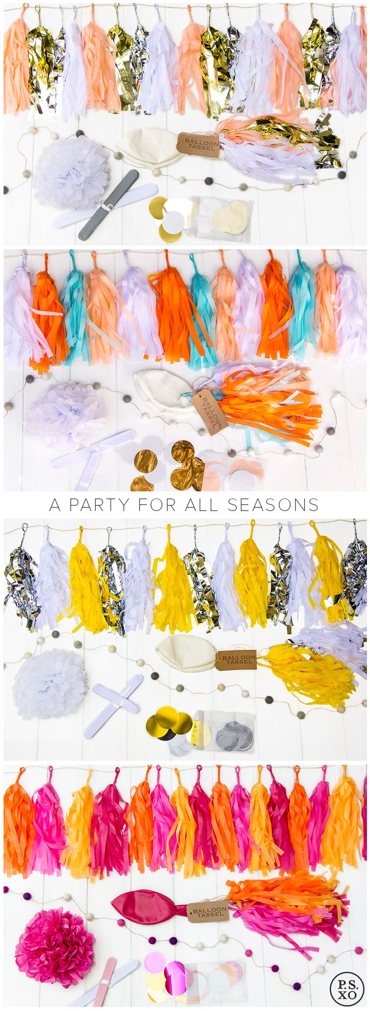 Whatever the season, whatever the occasion, P.S. XO has got you covered! Beautiful party decorations delivered right to your door, so you can stress less and party more!