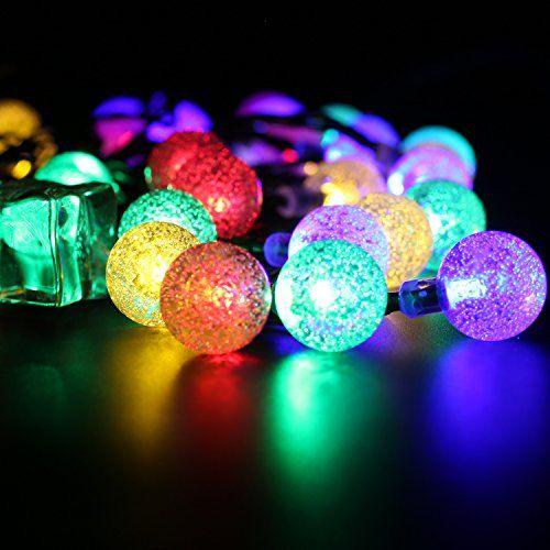 Awesome BOHMAIN Solar LED Lichterketten m er Wasserdichter Bunte LED Gl hbirne Au en