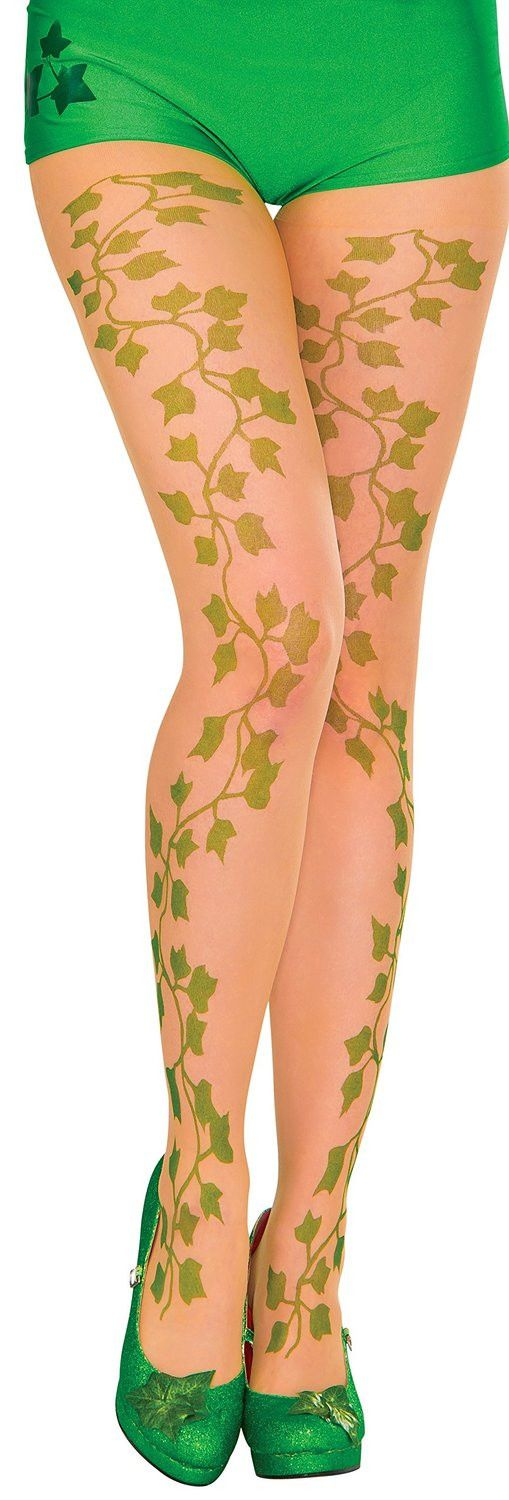 Poison Ivy Adult Sheer Printed Tights One Size Fits Most