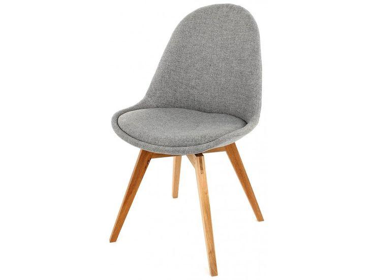 Krzesło Donna Bess szare nogi drewniane — Krzesła Tenzo — sfmeble.pl  #scandinavian  #style  #interior  #homedesign #furniture  #chair