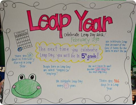 Leap Day Anchor Chart - hope I remember this in 4 years!