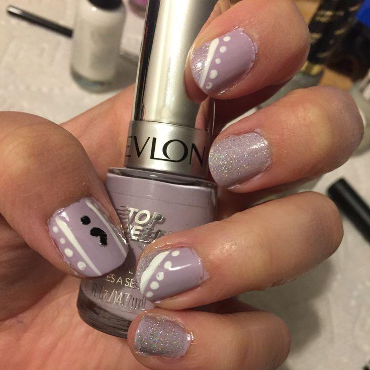 Semicolon project nail art