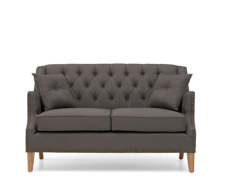Cadbury Grey Fabric 2 Seater Sofa With Natural Ash Wood Legs 2 Cushions Included The Cadbury Grey Material Tw Sofa Cheap Leather Sofas Seater Sofa