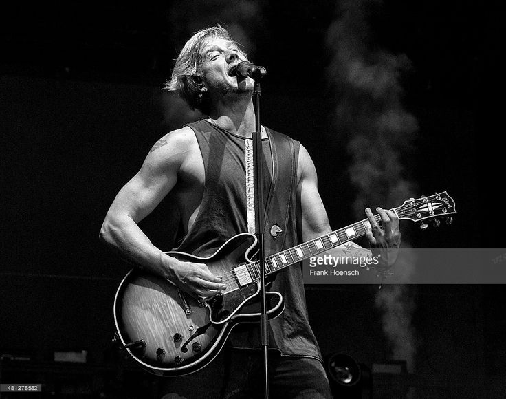 Singer Samu Haber of the Finnish band Sunrise Avenue performs live during a concert at the Kindlbuehne Wuhlheide on July 18, 2015 in Berlin, Germany.