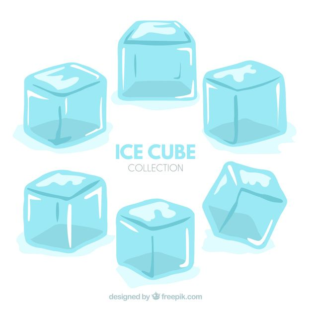 Download Ice Cube Collection With Flat Design For Free Ice Cube Drawing Ice Cube Cube