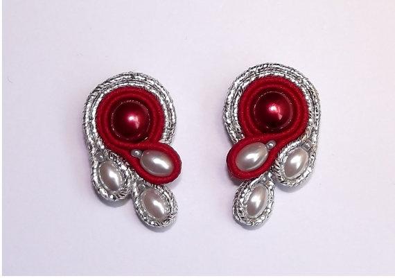 Soutache jewelry.  Soutache Earrings via Etsy