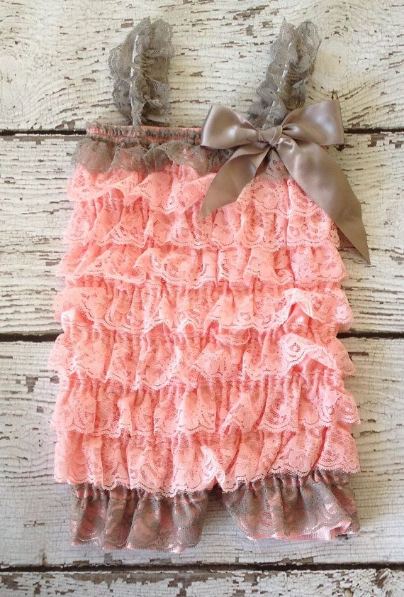 Baby lace ruffle romper Etsy - induced.info