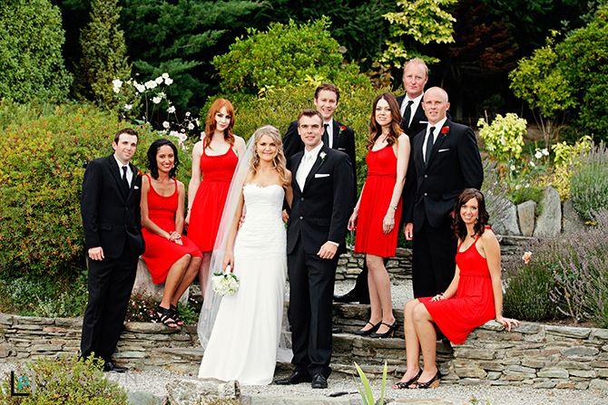 bridal party at Stoneridge Estate