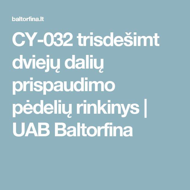 CY-032 trisdešimt dviejų dalių prispaudimo pėdelių rinkinys | UAB Baltorfina