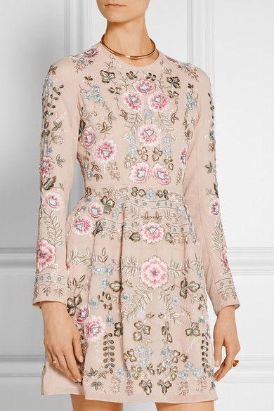 Needle & Thread | Embellished chiffon mini dress | NET-A-PORTER.COM