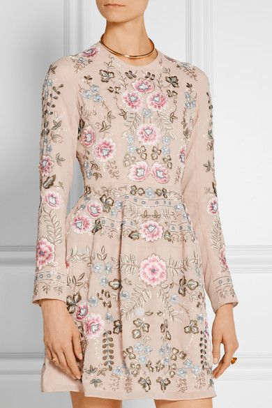 Needle & Thread | Embellished chiffon mini dress | NET-A-PORTER.COM