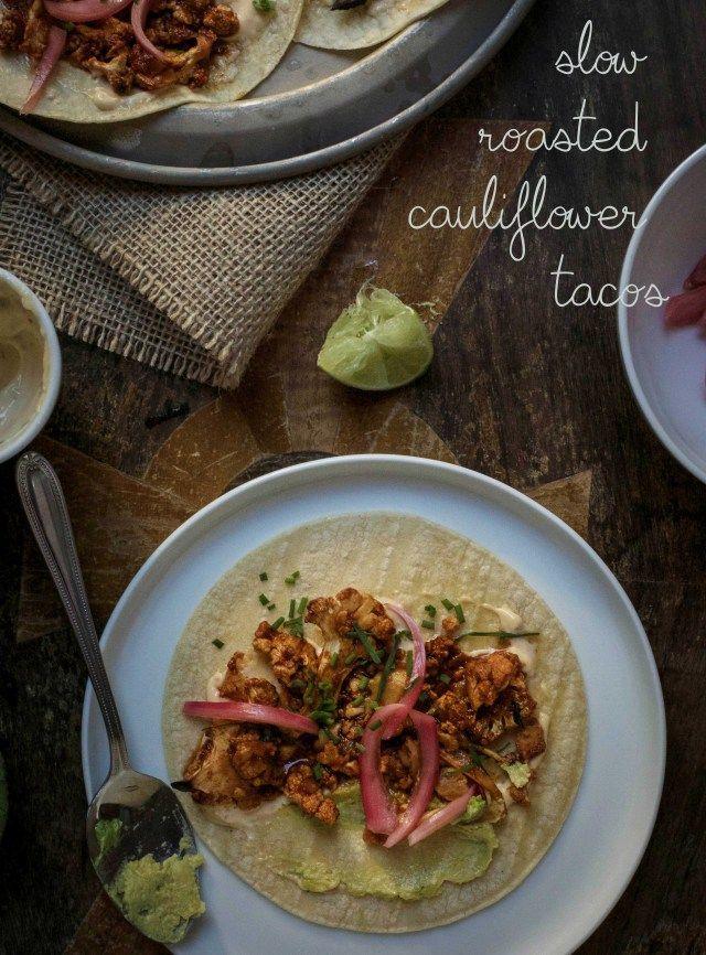 slow roasted cauliflower tacos feature
