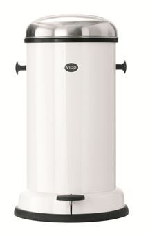 The classic Danish wastebin Vipp with the domed, smooth design has a long and interesting history. Vipp 16 is a perfect storage for both kitchen and bathroom.