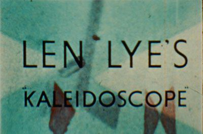 The Len Lye Foundation - Kaleidoscope, 1935
