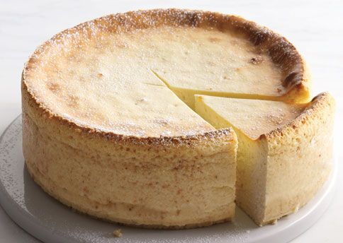 Ricotta Cheesecake - Keep in refrigerator until serving or it gets soggy. Great with berries.