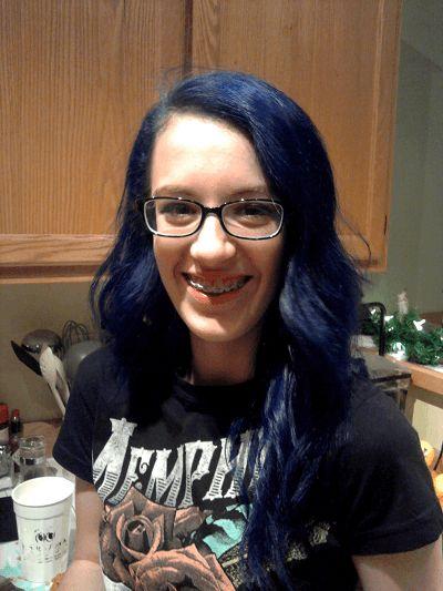 Blue Hair Dye Tips for Black or Brown Hair