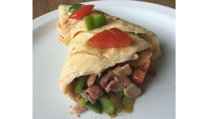 Breakfast Recipe | Bacon & Veggie Omelette Wrap
