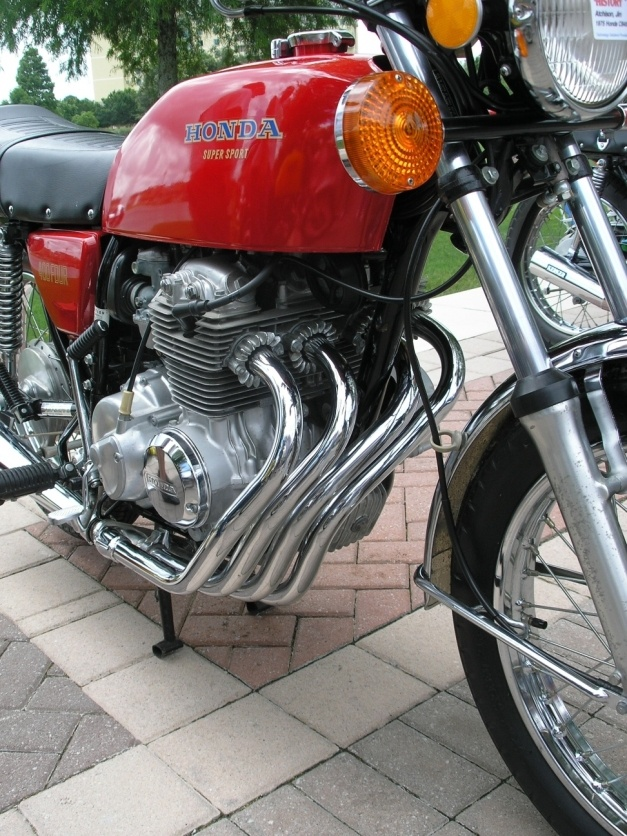 Honda CB400 Four.  Maybe the sweetest exhaust in all of motorcycledom.