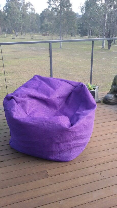 DIY P&I beanbag in shade cloth so water does not pool