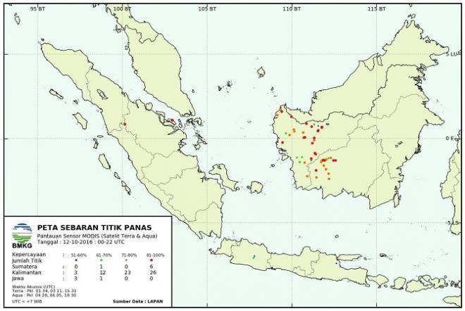 Covesia.com - Badan Meteorologi Klimatologi dan Geofisika (BMKG) menyatakan, tiga titik panas terdeteksi di Sumatera dengan memiliki tingkat kepercayaan...