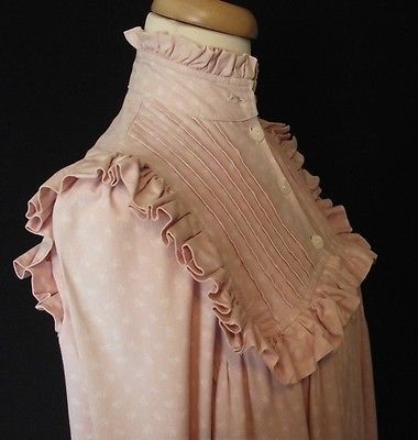 Rare Vintage 1970s Victorian Laura Ashley Dressing Gown Coat Dress UK10 RARE Carno