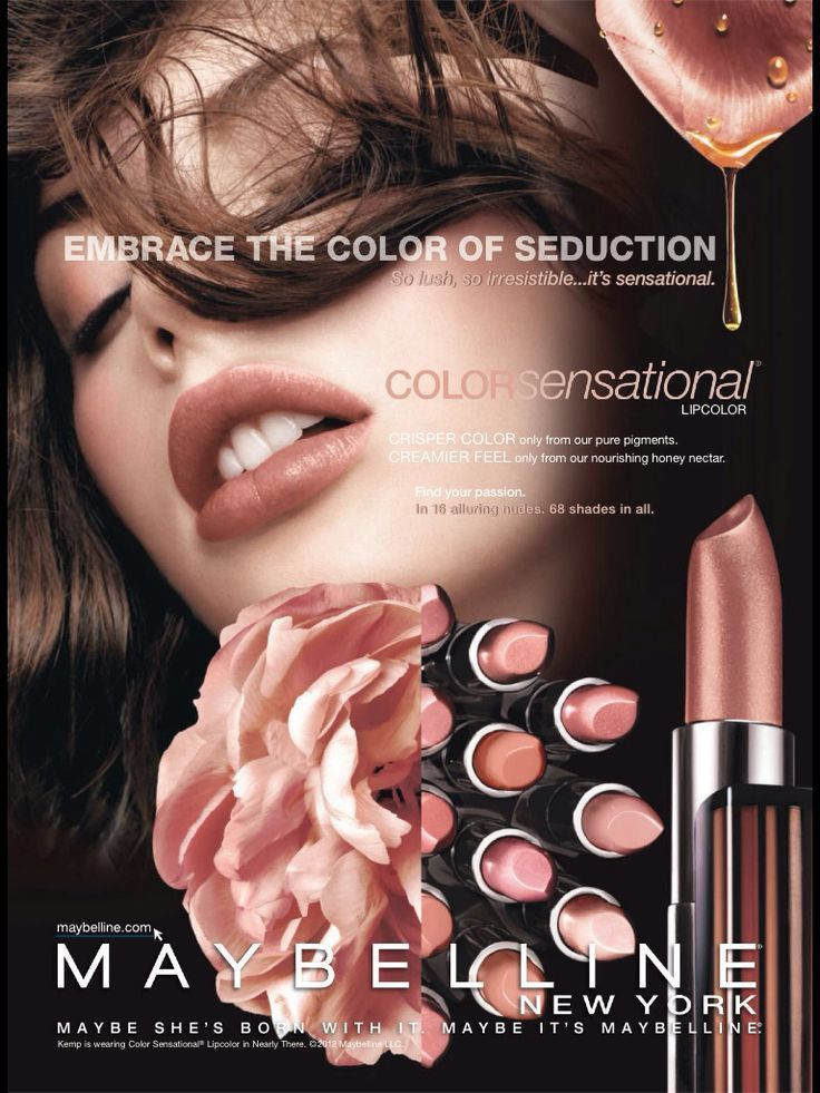 Maybelline Cosmetic Advertising | Maybelline, Makeup ...