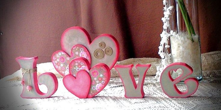 Love. Handmade wooden letters