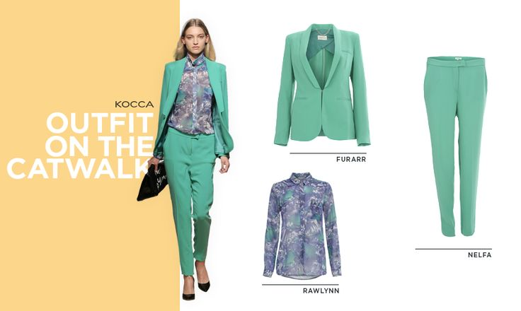 Glamorous and sophisticated total look with a pant suit from the 2014 Spring Summer fashion show! #Kwoman #fashion #PE14