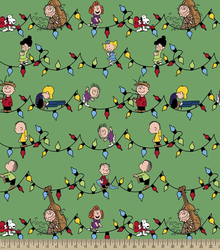 Peanuts? Print Fabric-Snoopy & Friends Christmas