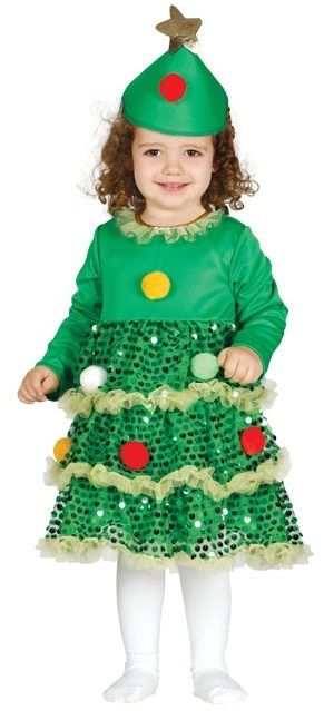 This baby Christmas tree fancy dress outfit is perfect for your little  girl, It comes - Baby Christmas Tree Fancy Dress Costume Christmas Party Ideas