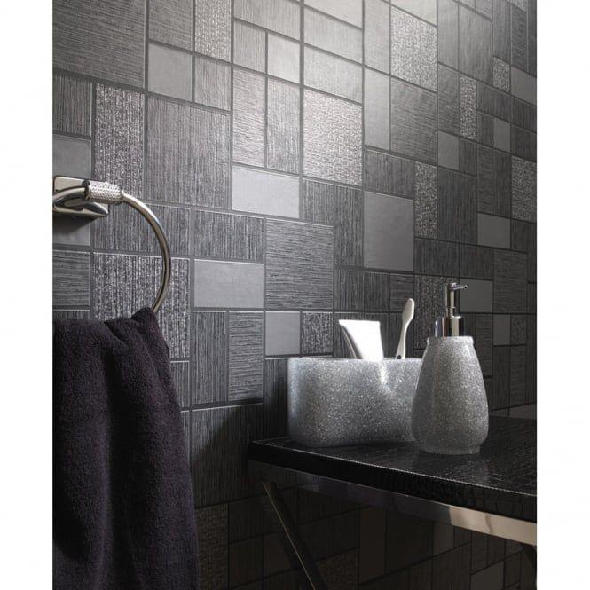 Holden Décor Tile Pattern Glitter Motif