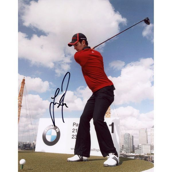 Justin Rose Fanatics Authentic Autographed 8'' x 10'' Red Shirt Swinging Photograph - $29.99