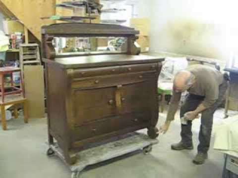 Restoring An Oak Sideboard   Thomas Johnson Antique Furniture Restoration    YouTube