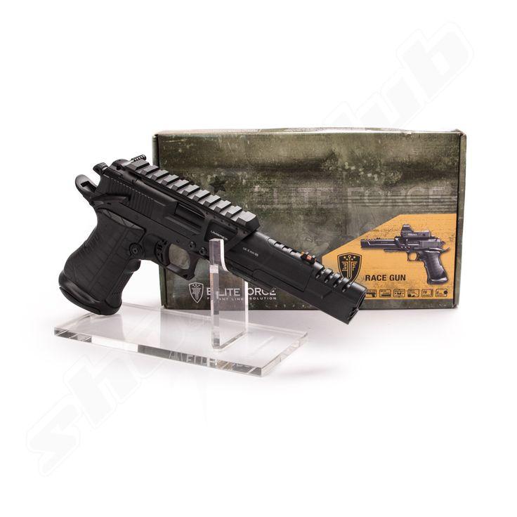 Elite Force Race Gun CO2 Pistole im Kal. 6mm inkl. Rotpunktvisier   #shootclub #airsoft #softair
