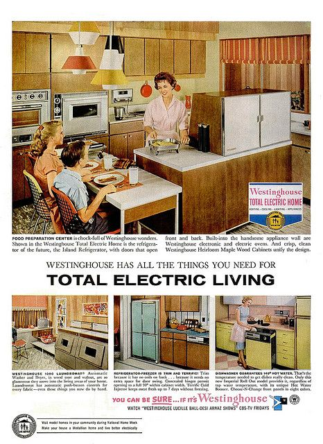 1000 images about retro kitchens dining rooms on pinterest dinette sets 50s kitchen and retro - Westinghouse and living ...