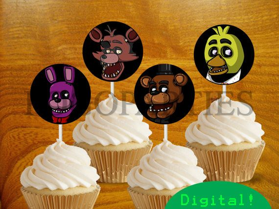 Printable Fnaf Five Nights At Freddy S Cupcake Toppers