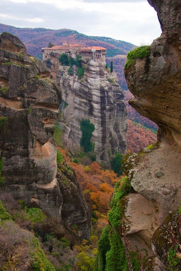 The Orthodox Monastery of the Holy Trinity, Meteora Greece © Nometokeslospinceles