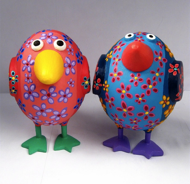 Ordinary Paper Mache Craft Ideas For Kids Part - 8: Paper Mache Birds...fun To Do. Need To Work Out The Feet For The Kids.