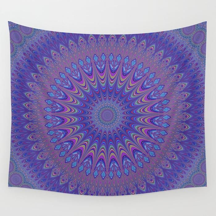SOLD in my Society6 shop: Purple Mandala Wall Tapestry by David Zydd  #gifts #giftideas #artwork