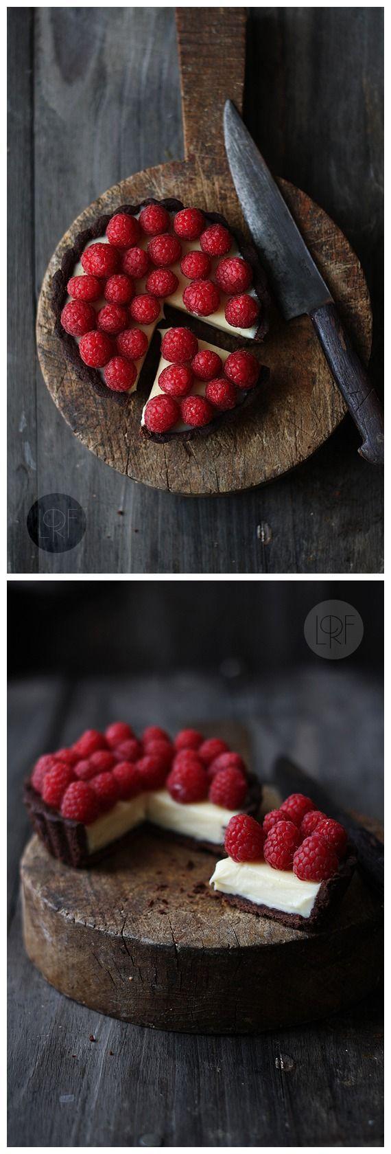 Chocolate, Raspberry and Mascarpone tarts